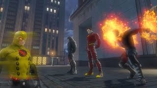 [DCUO] : Team Flarrow - The Flash The Arrow Firestorm vs The Reverse Flash
