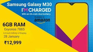 Samsung Galaxy M30 : Price, Specifications, Release Date