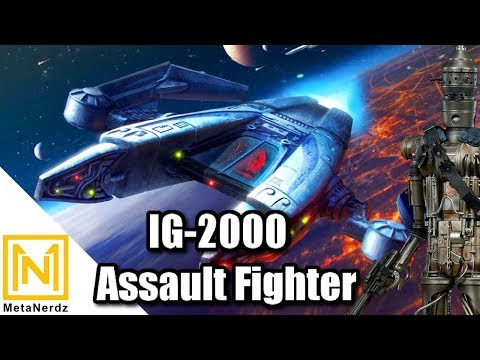 IG-88's Bounty Hunter Ship - IG-2000 Aggressor Assault Fighter - Star Wars Bounty Hunter Ships