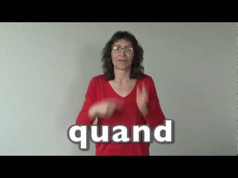 Assez Apprendre la langue des signes LSF vocabulaire combien comment  RF14