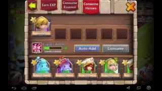 Castle Clach shit rolling 8500 gems + hero card