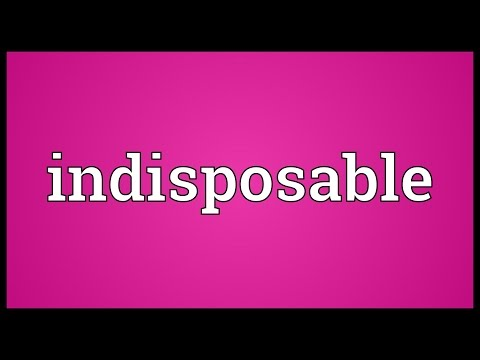 Header of Indisposable