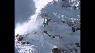 Skiers falling off cliffs compilation