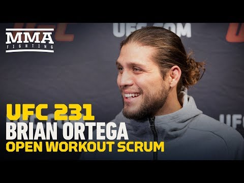 UFC 231: Brian Ortega Says He Didn't Get Answer From Max Holloway On Confidence in Fight Happening