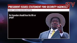 President Museveni issues guidelines to security agencies