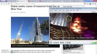 new years fire at dubai proves 9 11 building 7 collapse was planned