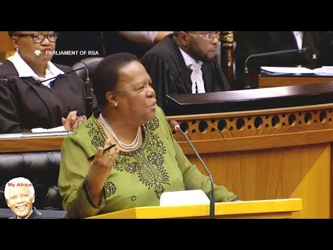 Vice President Hopeful  Naledi Pandor Concludes SONA 2018 Debate