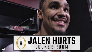 Jalen Hurts reacts to Alabama championship, Tua Tagovailoa leading win