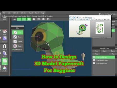 How To Design 3D Model Papercraft For Beginner | Cara Design Papercraft Model Untuk Pemula
