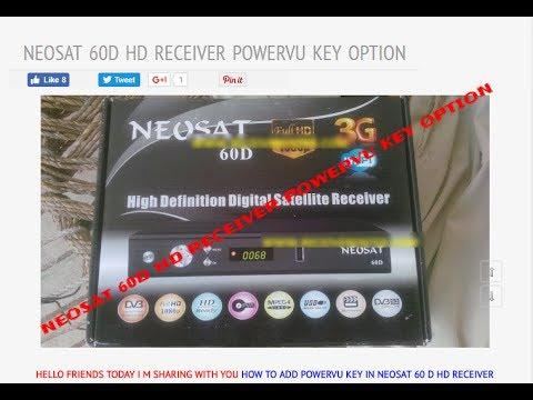 NEOSAT 60D HD RECEIVER POWERVU KEY OPTION