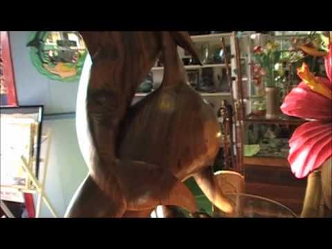 Acacia Wooden Dolphin Statue