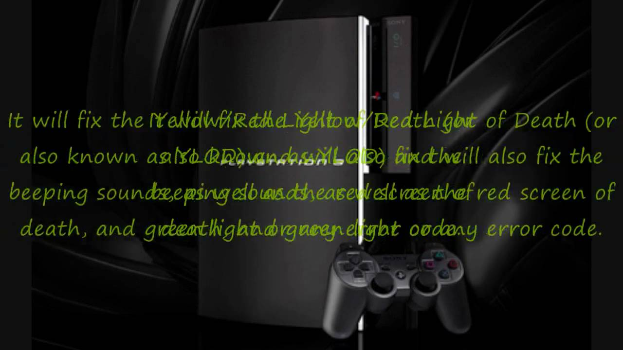 how to fix red light on ps3