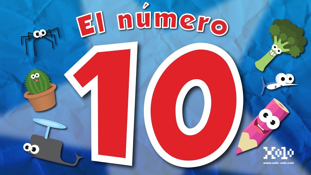 El Número 10 En Español Para Niños Videos Aprende Youtube