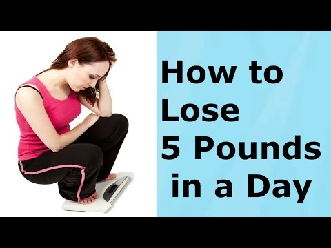 How To Lose 5 Pounds In A Day – Quick Method Of Losing Weight
