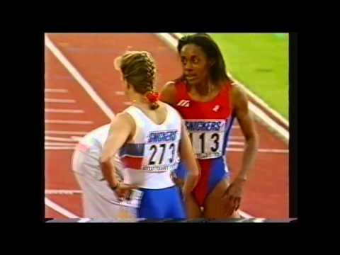 Women's 400m Hurdles Final 1993 World Athletics Championships Sally Gunnell wins gold