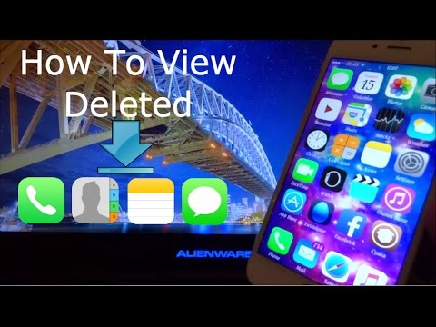How To View Deleted Contacts Sms Imessages Ios