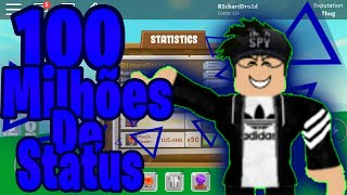 ROBLOX-Consiguindo 100 million IN PP, PF and ENDR!! (Super Power Simulator)