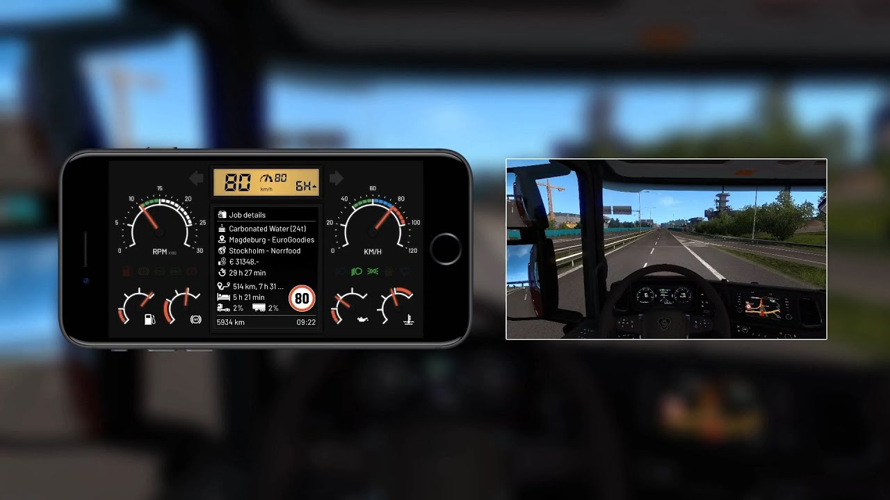 T Dashboard 3 0 (Mobile Dashboard Skin for ETS2 Telemetry Server