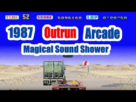 1987 Outrun Magical Sound Shower Arcade Old School Game Playthrough  Retro Game