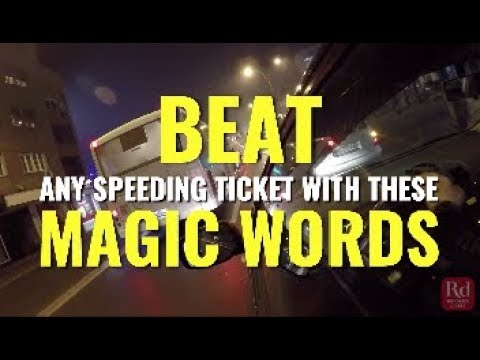 How To Beat A Speeding Ticket >> Beat Any Speeding Ticket With These Magic Words