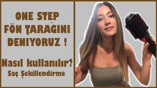 ONE STEP FÖN TARAĞINI DENEDİM!   Nasıl kullanılır? Fön tarağı inceleme Saç Şekillendirme