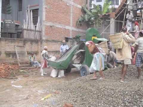 Concrete Construction in Kathmandu, Nepal