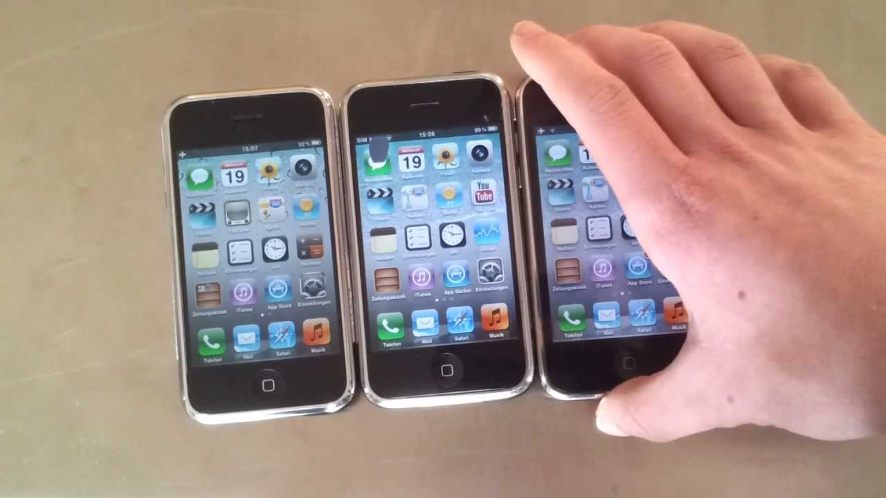 low priced b205e 782c5 Whited00r 6.0 vs WD 5.2.1 vs iOS 6 ausführlicher Vergleich (Deutsch)  (iPhone 2G vs 3GS)