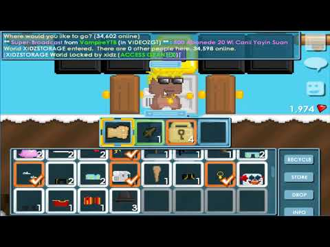 Growtopia Hacking Accounts #33 1DLS + Recycling RING