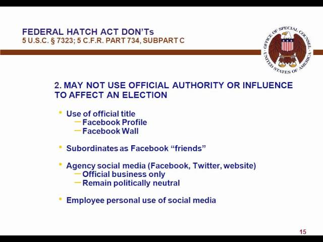 Hatch Act: Dos and Donts for Feds on Social Media