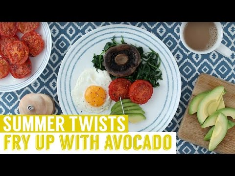Classic fry-up with an avocado twist