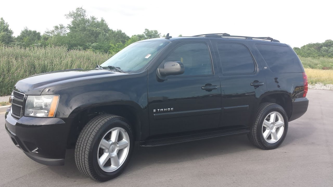 sold 2007 chevrolet tahoe lt 4x2 61k 1 0wner only 61k 8 passenger 20 wheels call. Black Bedroom Furniture Sets. Home Design Ideas