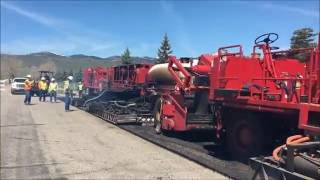 Video still for Recycled hot in placed paving PROCESS