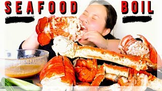 MUKBANG SEAFOOD BOIL! 먹방 (EATING SHOW!) KING CRAB + GIANT LOBSTER + SHRIMP