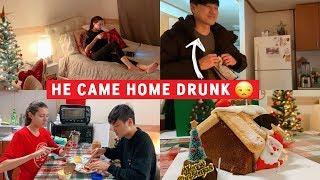 VLOG   He Came Home Drunk 😒  [국제커플] 술 취해서 집에 온 규호