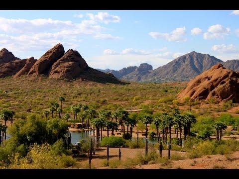 Papago Park trail system day hike Arizona