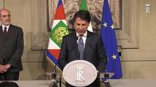 ID 67853 Italy's premier designate Conte hold consultations with political parties