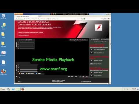 Install Flash Media Server 4.5 and verify streaming to Flash and iOS
