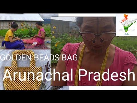 Golden beads bag