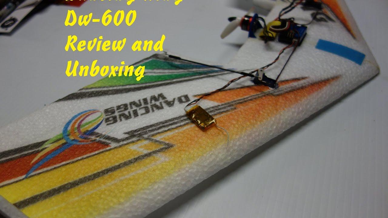 DW Hobby Mini Rainbow DW-600 Micro Flying Wing Review Bonzai Killer?