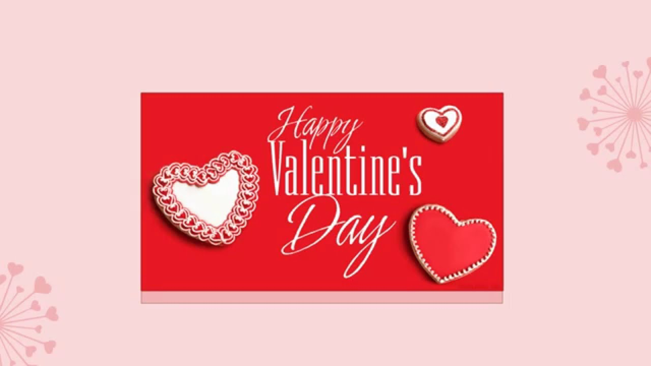 Animated Valentines Card by PowerPoint YouTube – Animated Valentine Card