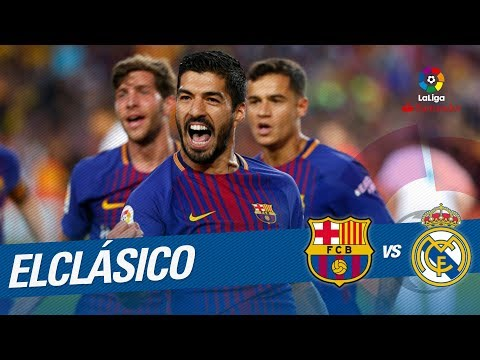 Gol de Luis Suárez (1-0) FC Barcelona vs Real Madrid