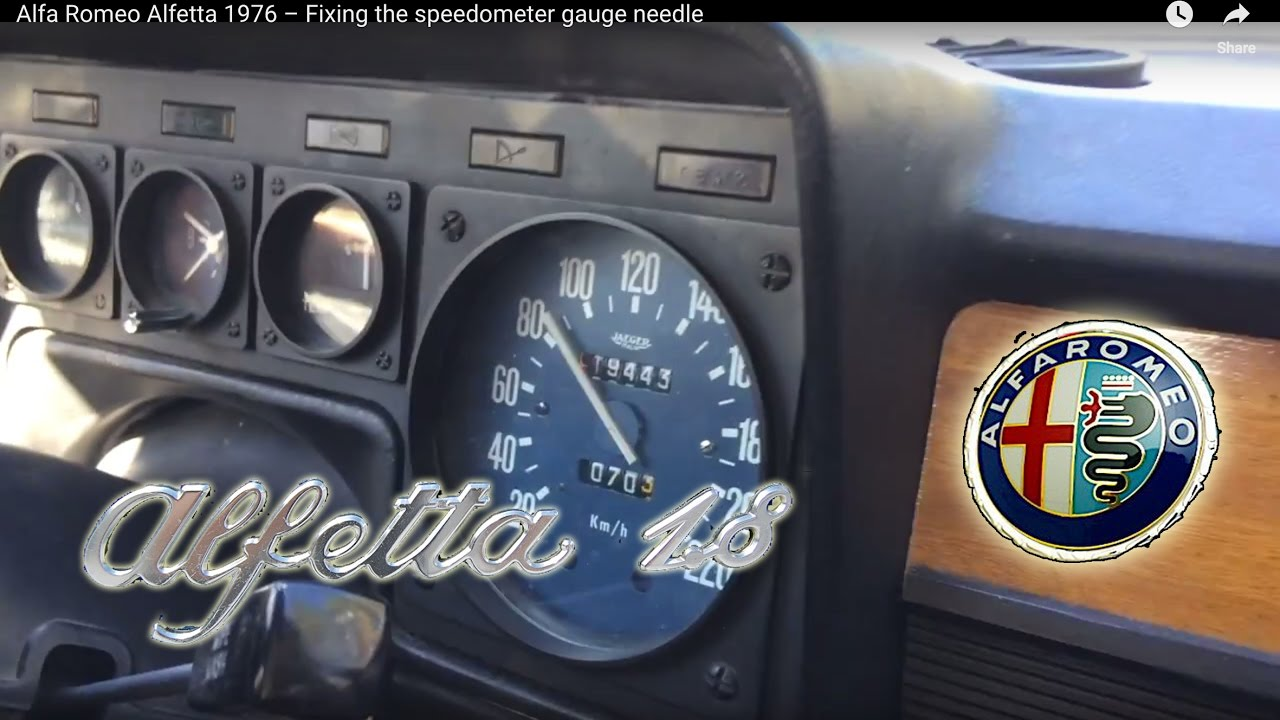 alfa romeo alfetta 1976 fixing the speedometer gauge. Black Bedroom Furniture Sets. Home Design Ideas