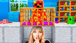 I Spent 24 Hours in Baby Preston's Minecraft House! *he had no clue*