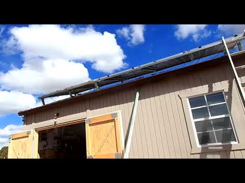 Building an off grid house part 107. Solar panel mounts, cleaning up.