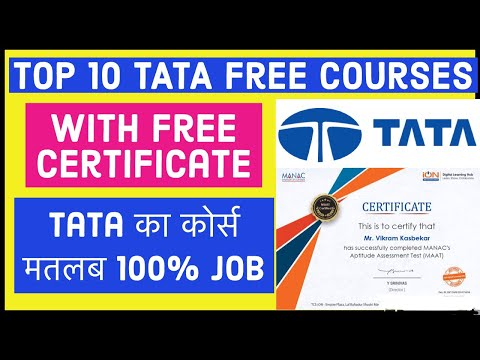 TATA e-learning | 100% Job गारंटी | Top 10 courses | TATA free courses online with certificates