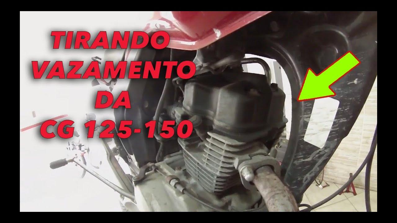 COMO TIRAR VAZAMENTO DA CG, TIRANDO VAZAMENTO DO CABEÇOTE CG 125. CG 150