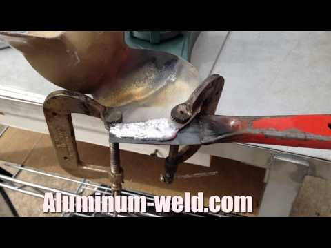 Aluminum Propeller Repair With A Propane Torch With HTS-735-11