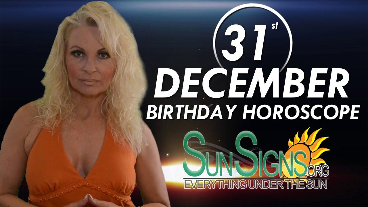 December 31 Zodiac Horoscope Birthday Personality | SunSigns Org