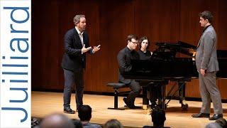 Gregory Feldmann, baritone & Cameron Richardson-Eames, piano | Juilliard Gerald Finley Master Class