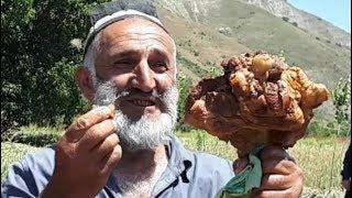 550 порции. Огромный Казан.  Пошаговый приготовление легендарного таджикского плова. Оши маьрака.